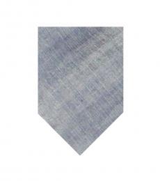 Calvin Klein Silver Solid Logo Tie