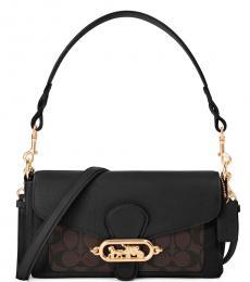Coach Brown Black Jade Medium Shoulder Bag