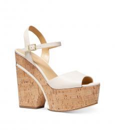Michael Kors Light Cream Lana Platform Heels