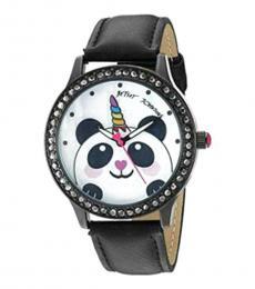 Betsey Johnson Black Unicorn Panda Watch