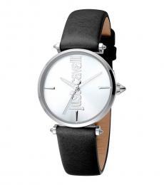 Just Cavalli Black Armonia Silver Dial Watch