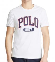Ralph Lauren White Custom Slim Fit Logo T-Shirt
