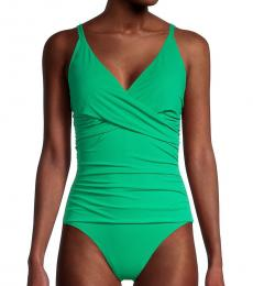 Tommy Bahama Caribbean-Pearl Ruched 1-Piece Swimsuit