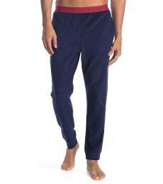 Calvin Klein Dark Blue Contrast Waist Sleep Pants