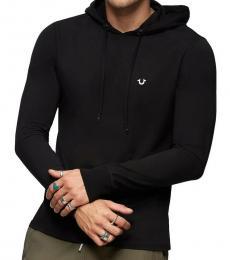 True Religion Black Logo Pullover Hoodie