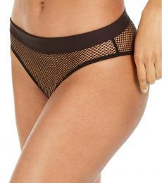 DKNY Black Mesh Bikini Bottom