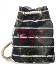 Black Logo Large Backpack