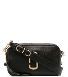 Marc Jacobs Black The Softshot 21 Small Crossbody Bag