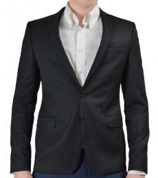 Versace Jeans Black Two Button Blazer
