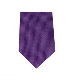 Michael Kors Purple Classic Geo Slim Silk Tie