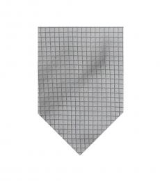 Burberry Grey Dapper Check Silk Tie