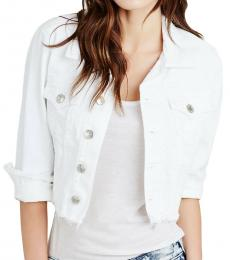 True Religion White Boxy Shirt Jacket