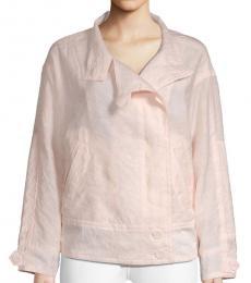 Rebecca Minkoff Pale Pink Long-Sleeve Cotton-Blend Jacket