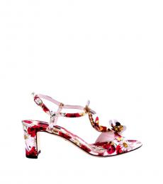 Multicolor Floral Jewelled Heels