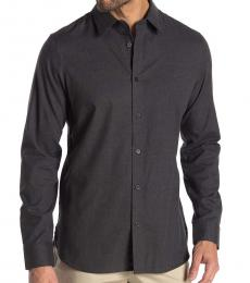 Calvin Klein Grey Night Button Down Flannel Shirt