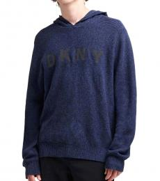 DKNY Black Iris Logo Sweater Hoodie