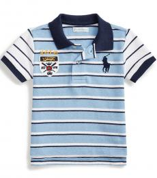 Ralph Lauren Baby Boys Blue Lagoon Striped Polo