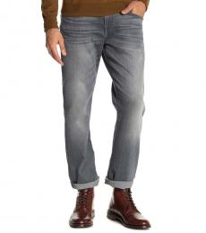 7 For All Mankind Grey Paxtyn Slim Straight Jeans