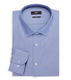 Blue Slim-Fit Dress Shirt