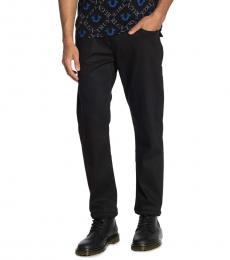 True Religion Black Geno Flap Pocket Relaxed Slim Fit Jeans