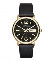 Marc Jacobs Black-Gold Fergus Classic Watch
