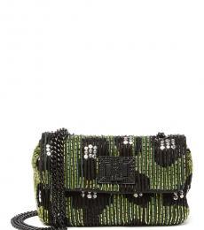 Betsey Johnson Green Black On the Town Mini Shoulder Bag