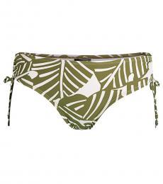 DKNY Olive Side-Tie Print Bikini Bottoms