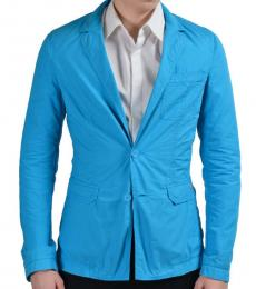 Versace Jeans Turquoise Two Button Sport Blazer