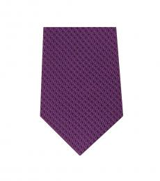 Purple Neat Geo Slim Silk Tie