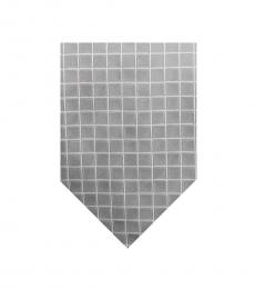 Burberry Grey Traditional Check Silk Tie