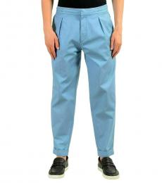 Hugo Boss Light Blue Stretch Casual Pants