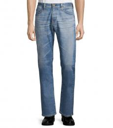 AG Adriano Goldschmied Blue Tailored-Leg Jeans