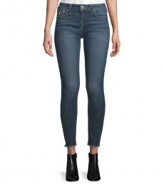 True Religion Blue Skinny Cropped Jeans
