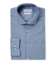 Blue Check Extra Slim Fit Dress Shirt