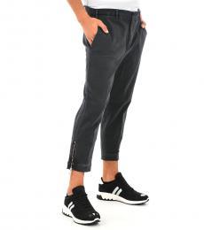 Neil Barrett Grey Capri Solid Pants