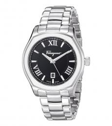 Salvatore Ferragamo Silver Lungarno Swiss Quartz Watch