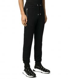 Balmain Black Zipped Pockets Track Trousers