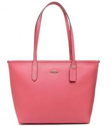 Coach Pink Ruby City Zip Large Tote