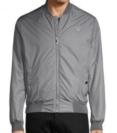 Versace Collection Grey Front-Zip Jacket