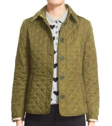 Burberry Light Green Classic Quilted Jacket
