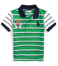 Ralph Lauren Baby Boys Golf Green Striped Polo