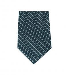 Michael Kors Multi Color Streamline Geo Slim Silk Tie
