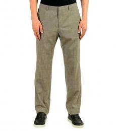 Hugo Boss Taupe Wool Linen Dress Pants