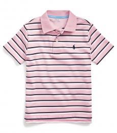 Little Boys Carmel Pink Striped Polo