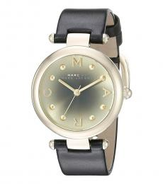 Marc Jacobs Black Round Modish Watch
