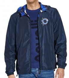 Cavalli Class Navy Blue Logo Zip Up Jacket