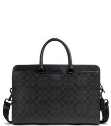 Coach Black Beckett Structured Large Briefcase Bag