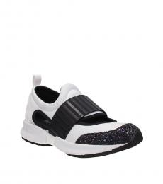 Armani Jeans White Black Back Logo Sneakers