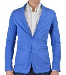 Versace Jeans Blue Two Button Sport Blazer