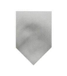 Burberry Grey Dapper Dots Print Silk Tie